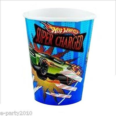 HOT WHEELS Speed City 9oz PAPER CUPS (8) ~ Birthday Party Supplies Tableware (Party City Supplies Birthday)