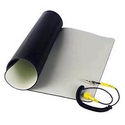 """Velleman Anti-Static ESD Mat Kit With Ground Cord / 19.7"""" x 23.6"""" Desktop Table"""