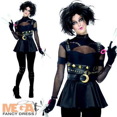 Miss Edward Scissorhands Ladies Fancy Dress Halloween Adults Costume Outfit ](Edward Scissorhands Womens Halloween Costume)