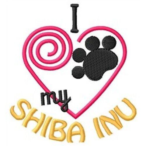 """I """"Heart"""" My Shiba Inu Ladies Fleece Jacket 1346-2 Size S - XXL"""