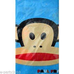 PAUL FRANK PLASTIC TABLE COVER ~ Birthday Party Supplies Decorations Cloth Blue