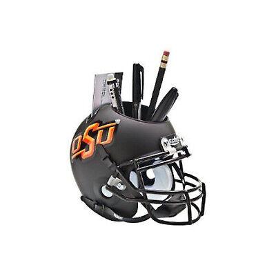 Oklahoma State Cowboys (Black Matte) NCAA Football Schutt Mini Helmet Desk Caddy