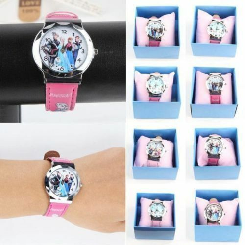 1PC with box Princess Frozen Quartz Kids Girl Wrist Watch