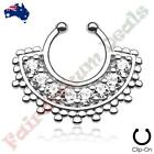 Cubic Zirconia Stainless Steel Ring Nose Piercing Jewellery