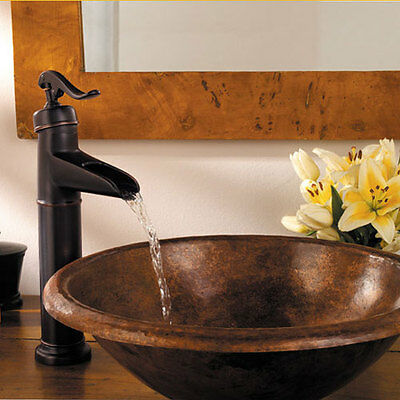 "14"" Bathroom Sink Faucet Oil Rubbed Bronze Lavatory One Hole/Handle Mixer Taps"