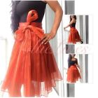 Chiffon Pleated Bow Skirts for Women