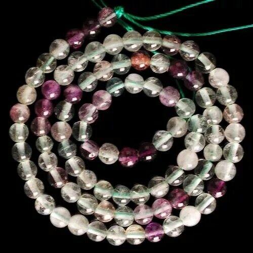 "VD3974 4mm Fluorite Ball Loose Beads 15"""