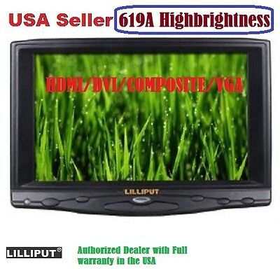 """Used, Lilliput 619A 7"""" HB HD on Camera Field TFT LCD Monitor VGA/Audio/HDMI/DVI Input for sale  Shipping to India"""