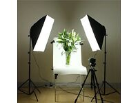 8 x Lamps Daylight Continuous Lighting Softbox Soft Box Kit 4 Head 50 x 70 cm Studio Photography