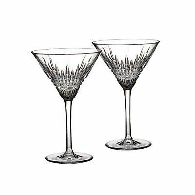 Waterford Crystal Lismore Diamond Martini Glasses, Pair