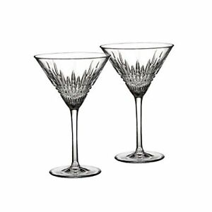 Waterford Crystal Lismore Diamond Martini Glasses, Pair