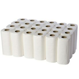 Kitchen Towel Rolls 2 PLY 10 Meters Virgin Pulp White Surface, Embossed Pattern, 24 Rolls, Cheap!!!