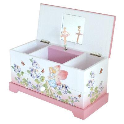 Ballerina White Trinket Box (MELE GIRLS CHILDRENS PINK & WHITE MUSICAL FAIRY BALLERINA JEWELLERY TRINKET)