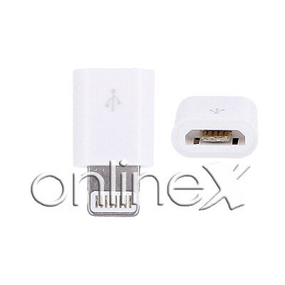 Adaptador Micro USB Hembra a Lighting Macho Conector iPhone Blanco a1097