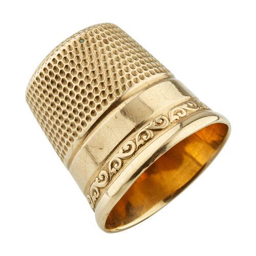 10k Yellow Gold Victorian Era Sewing Thimble 3.2 grams
