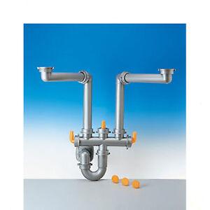 Sifone lavello cucina 1 1 2 a 2 vie lira spazio 2 ebay - Scarico lavello cucina ...