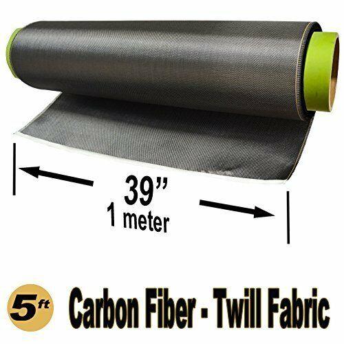 5 Ft -Carbon Fiber Fabric-Twill WEAVE-3K/220g x 1 Meter