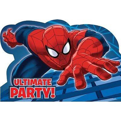 (Spider-man Invitations 8 Piece Spider-man Party Decoration)