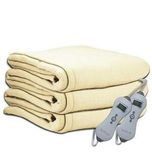 Electric Blankets Sunbeam Throws Biddeford Ebay
