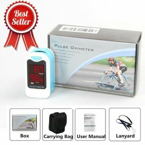 CONTEC Fingertip Pulse Oximeter Blood Oxygen Saturation SPO2 Heart Rate Monitor