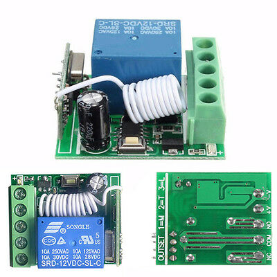 12V 1x Channel Receiver Wireless Relay RF Remote Control Switch Module 433MHz