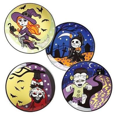 Set of 4 HALLOWEEN Character ~ DESSERT PLATES 8