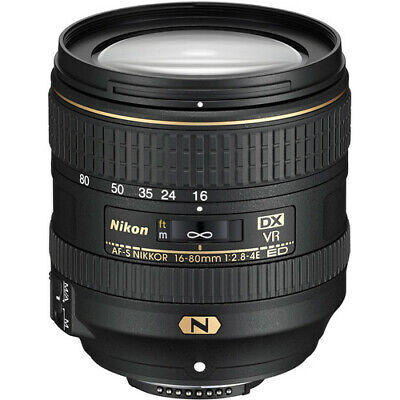 Nikon AF-S DX NIKKOR 16-80mm f/2.8-4E ED VR Zoom Lens for Nikon DSLR Camera