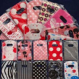 50pcs Wholesale Lot Pretty Mixed Pattern Plastic Gift Bag Shopping 15X9CM NEWLY