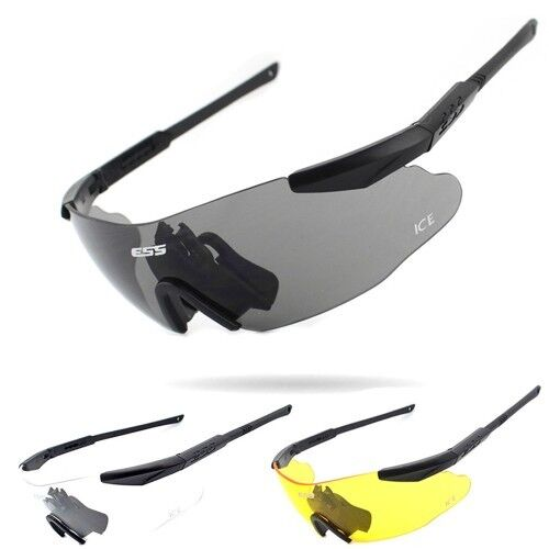 ESS ICE Military Sunglasses Shade Tactical Army Shooting Safety Glasses 3 Lens