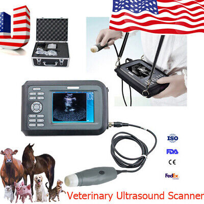 NEW HOSPITAL VETERINARY VET ULTRASOUND SCANNER MACHINE PREGNANCY COW/DOG/PIG+PROBE