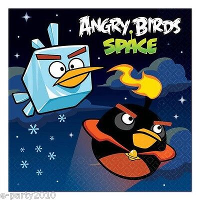ANGRY BIRDS SPACE SMALL NAPKINS (16) ~ Birthday Party Supplies Cake Dessert Game](Angry Birds Birthday Cake)