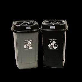 Cup recycling bins