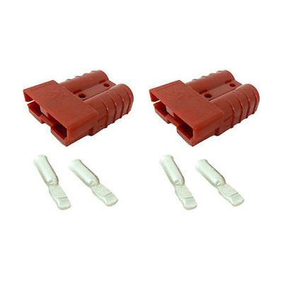 Anderson Sb175 Connector Kit Red 10 Awg 6329g1  2 Housings And 4 Contacts