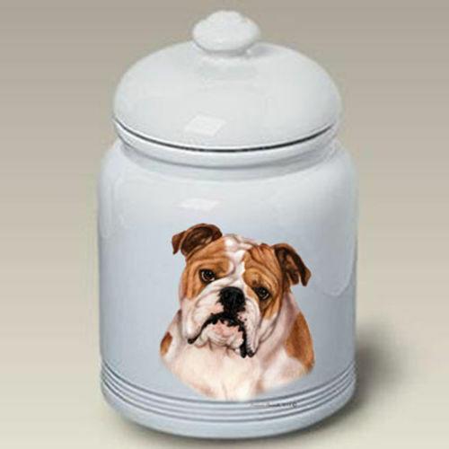 Bulldog Ceramic Treat Jar TB 34025