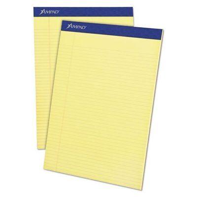 Ampad Legal Pad - Ampad 20215 Mead Legal Ruled Pad, 8 1/2 X 11, Canary, 100-sheet Pads, 4 Per Pack