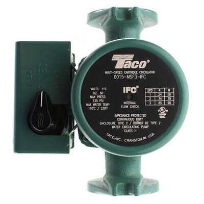 New Taco 0015-msf3-ifc 3-speed Cast Iron Circulator Pump W Integral Flow Check