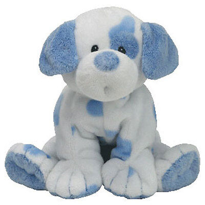 BabyTY - BABY PUPS BLUE the Dog (9 inch) - MWMTs Stuffed Animal Toy