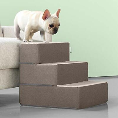 Zinus Easy Pet Stairs / Pet Ramp / Pet Ladder, Medium, Sand