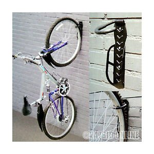 2-x-WALL-MOUNTED-MOUNTABLE-CYCLE-STORAGE-HOOK-BIKE-RACK-SPACE-SAVING-CYCLE-STAND