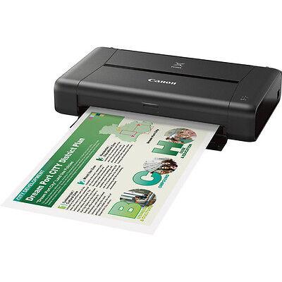 Canon PIXMA iP110 Wireless Compact Mobile Inkjet Printer (Black) - #9596B002
