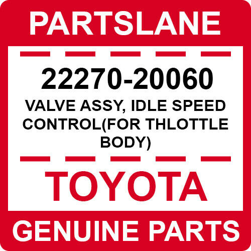 22270-20060 Toyota Oem Genuine Valve Assy, Idle Speed Control(for Thlottle Body)