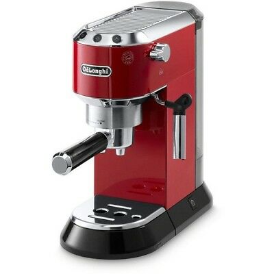 Espresso & Cappuccino Machine Automatic 4 Cup Coffee Maker 15 Bar Pressure Red