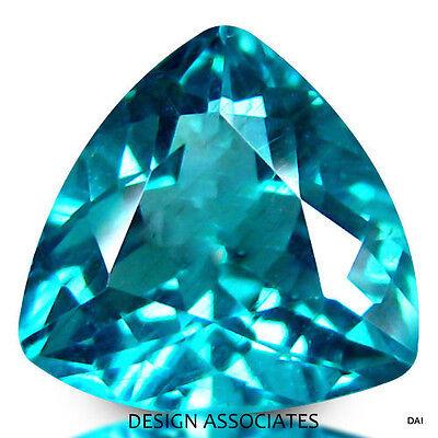 APATITE NATURAL 5  MM TRILLION CUT  BLUE OUTSTANDING COLOR