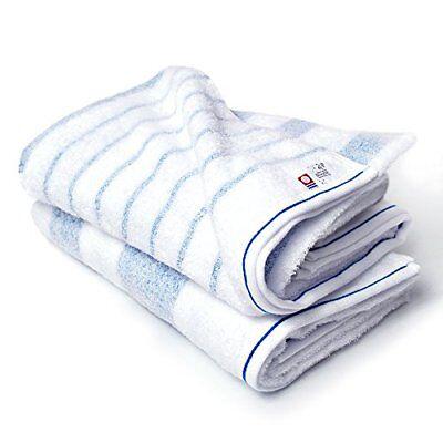 Bloom Imabari towel certified natural border bath towel 2 piece set made in Japa