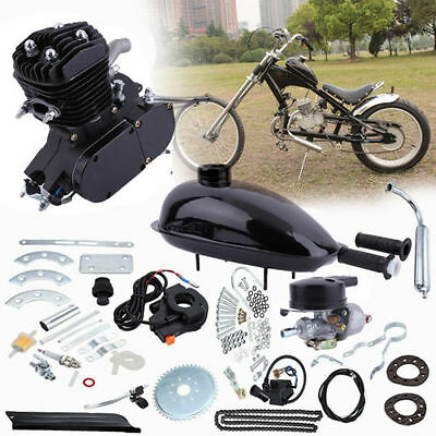 UPGRADED 80cc 2-Stroke Motor Engine Kit Gas for Motorized Bicycle Bike NEW Black