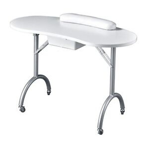 Portable Manicure Table Foldable with Wheels. Removable Drawer Cambridge Kitchener Area image 1