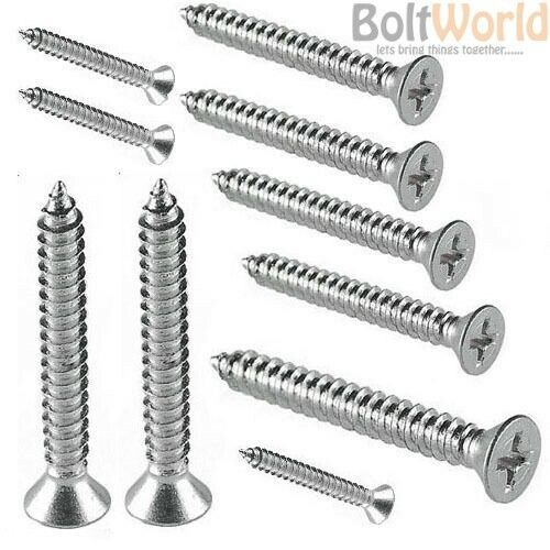 3.5mm x 20mm Stainless Steel Pozi Pan Self Tapping Screws x100