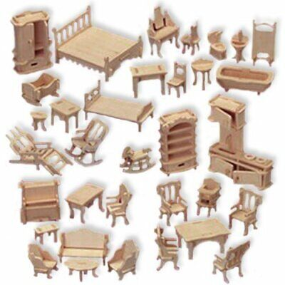 Dxf File Cnc Vector Plasma Router Laser Cut Dxf-cdr Files Doll House Furniture