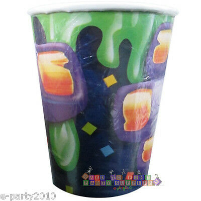 HALLOWEEN Monster Party 9oz PAPER CUPS (8) ~ Birthday Supplies Beverage Drinking (Halloween Party Cups)