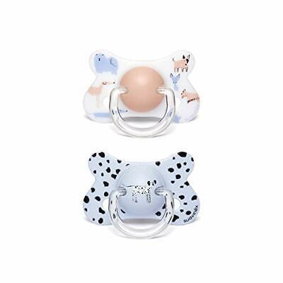 Suavinex - Pack 2 chupetes para bebés +18 (+18 meses|Perritos Azul|Látex)